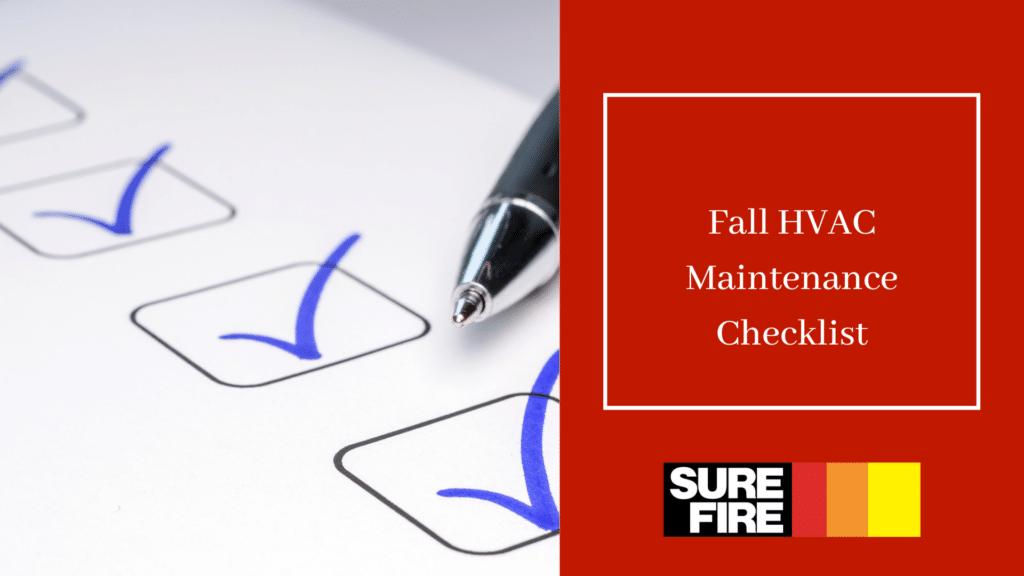 fall HVAC Maintenance